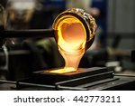 pouring melted glass into...   Shutterstock . vector #442773211