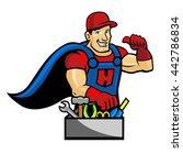 handyman character   super... | Shutterstock .eps vector #442786834