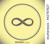 infinity sign | Shutterstock .eps vector #442787827