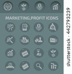 marketing profit and business... | Shutterstock .eps vector #442793239