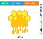 honey icon. flat color design....