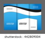 vector modern tri fold brochure ... | Shutterstock .eps vector #442809004