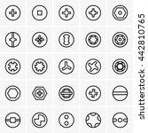 screw head types | Shutterstock .eps vector #442810765