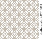 vector seamless ornamental... | Shutterstock .eps vector #442818031
