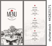 restaurant menu design. vector... | Shutterstock .eps vector #442825171