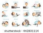 man with sleep problems. vector ... | Shutterstock .eps vector #442831114