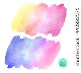 vector. set of watercolor blots ...   Shutterstock .eps vector #442832575