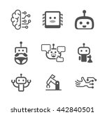 artificial intelligence  ai  ... | Shutterstock .eps vector #442840501