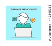 customer engagement vector | Shutterstock .eps vector #442845385