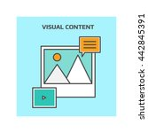 visual content vector | Shutterstock .eps vector #442845391