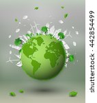 concept of eco friendly and... | Shutterstock .eps vector #442854499