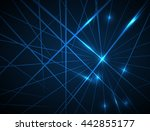 straight lines abstract vector... | Shutterstock .eps vector #442855177