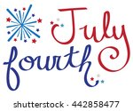 july fourth   Shutterstock .eps vector #442858477