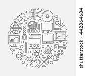 innovation round symbol. vector ... | Shutterstock .eps vector #442864684