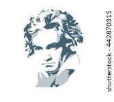 portrait of the composer and... | Shutterstock .eps vector #442870315