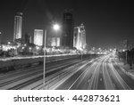 tel aviv highway at night | Shutterstock . vector #442873621