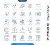 thin line icons set of internet ... | Shutterstock .eps vector #442875724