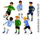 football soccer players in... | Shutterstock .eps vector #442878145