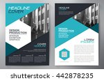 business brochure flyer design... | Shutterstock .eps vector #442878235