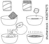 vector set of noodle | Shutterstock .eps vector #442879075