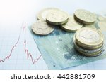 British Pound And Euro Coins O...