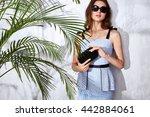 beautiful sexy model woman wear ... | Shutterstock . vector #442884061
