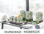 model of residential quarter... | Shutterstock . vector #442885225