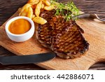 Grilled Beef Steak With Chips...