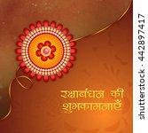 beautiful creative rakhi with... | Shutterstock .eps vector #442897417