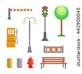 street element icons set.... | Shutterstock . vector #442900045