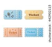 ticket set icon | Shutterstock .eps vector #442902115