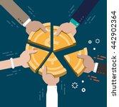 business market share... | Shutterstock .eps vector #442902364