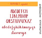english red alphabet.... | Shutterstock .eps vector #442903849