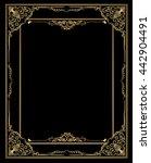 gold corner ornament greeting... | Shutterstock .eps vector #442904491