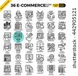 e commerce business outline... | Shutterstock .eps vector #442905121