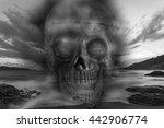 skull on a sea  sad and bad...