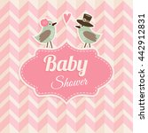 cute baby shower  birthday ... | Shutterstock .eps vector #442912831
