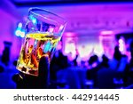 colorful glass on beer in the... | Shutterstock . vector #442914445