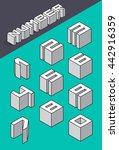 set of the isometric numbers.... | Shutterstock .eps vector #442916359
