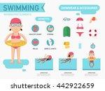 benefits of swimming... | Shutterstock .eps vector #442922659