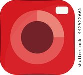 vector red camera icon isolated....