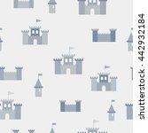vector simple seamless grey... | Shutterstock .eps vector #442932184