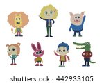book cartoon characters ... | Shutterstock .eps vector #442933105