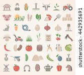 flat icons   farm | Shutterstock .eps vector #442935691