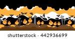 halloween vector horror scene | Shutterstock .eps vector #442936699