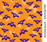 seamless halloween backgrounds. ... | Shutterstock .eps vector #442936789