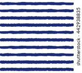 blue and white marine striped... | Shutterstock .eps vector #442938835
