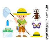 insect collection set | Shutterstock .eps vector #442947685