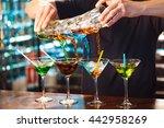 barman show. bartender pours... | Shutterstock . vector #442958269