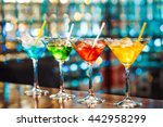 multicolored cocktails at the... | Shutterstock . vector #442958299